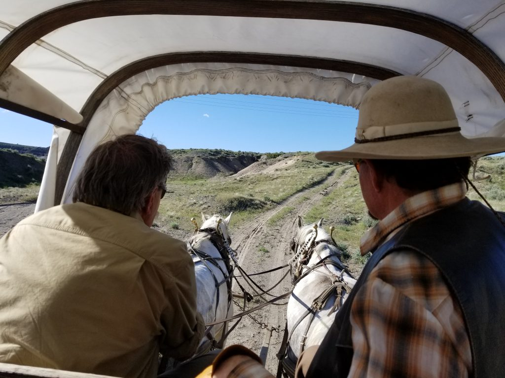 Historic Trails West Oregon Trail, Homeschool Fieldtrip Wyoming, History Fieldtrip Wyoming, Covered Wagon Ride Oregon Trail