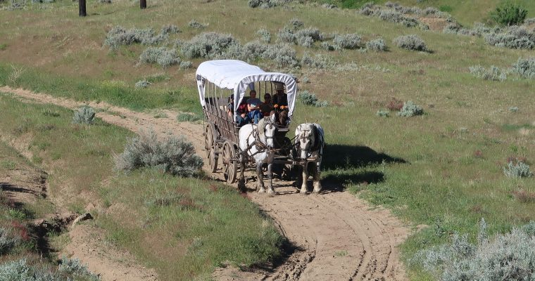 Riding in the ruts of the Oregon Trail